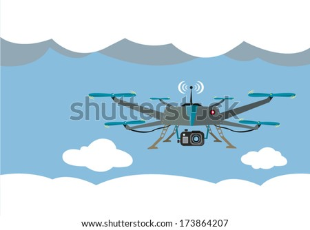 drone flying for aerial