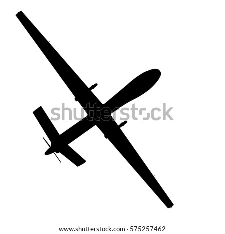 Drone Flying Vector Silhouette