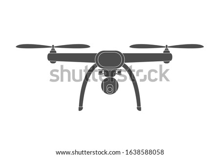 Drone icon. Quadcopter. Unmanned aerial vehicle. Vector illustration.