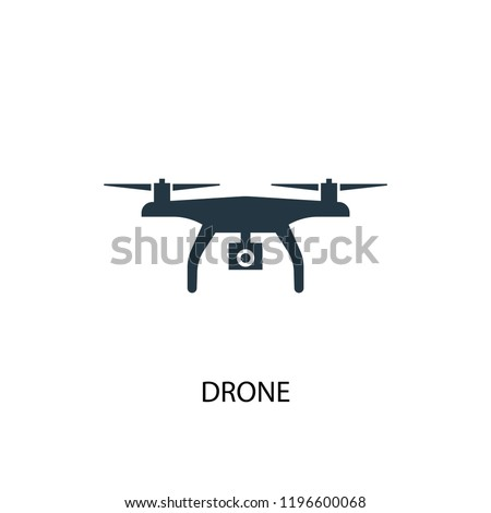 drone icon. Simple element illustration. drone concept symbol design. Can be used for web and mobile.