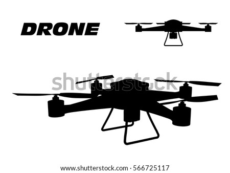 Stock Vector Drone On A White Background 566725117