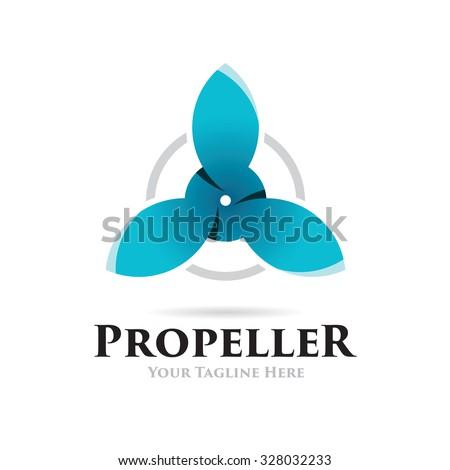 Drone Propeller Icon Logo