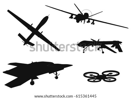 drone vector silhouettes