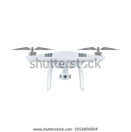 Stock Vector Drone With Camera Uav