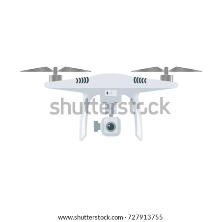 Shutterstock Drone with camera  (vector).UAV drone copter. Photo and video drone icon (vector).drone copter flying with digital camera.Unmanned Aerial Vehicle with high resolution digital camera.