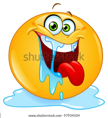 stock-vector-drooling-emoticon-97934504.