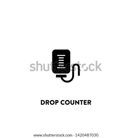 drop counter icon vector. drop counter sign on white background. drop counter icon for web and app