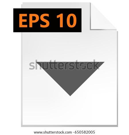 Drop down arrow icon stock vector illustration