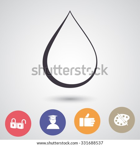 drop icon vector  eps 10