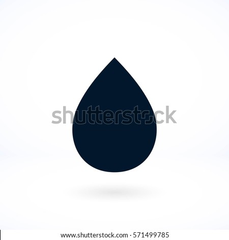 drop icon vector  flat design