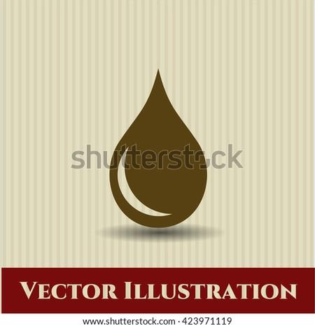 drop icon vector symbol flat eps jpg app web concept website