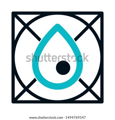 drop illustration icon. flat illustration of drop illustration - vector icon. drop illustration sign symbol