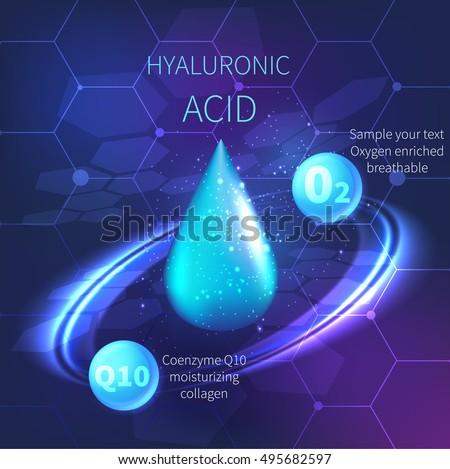 drop of hyaluronic acid vector