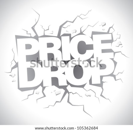Drop price, sale design template. - stock vector