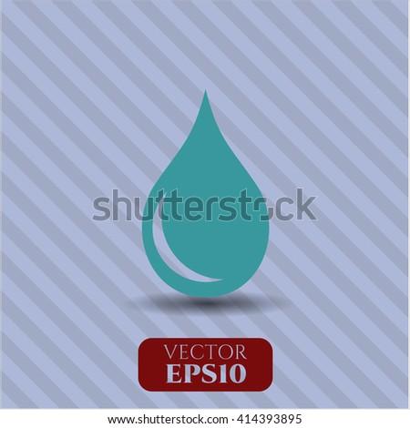Drop vector icon or symbol
