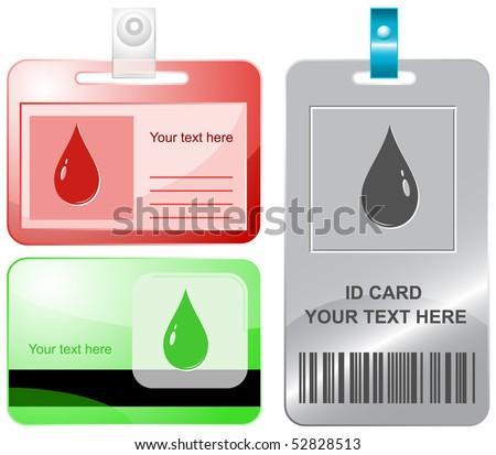 Drop. Vector id cards.