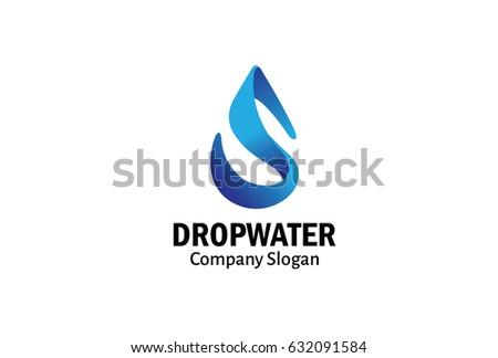 Drop Water Logo Design Illustration