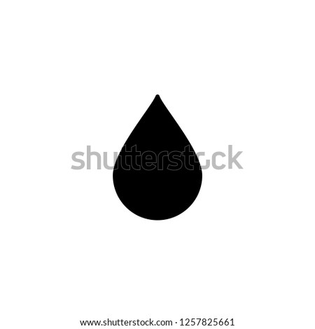 droplet icon vector. droplet vector graphic illustration