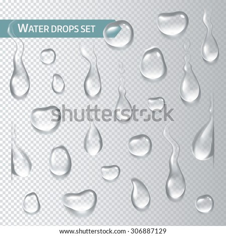 droplets of water on a