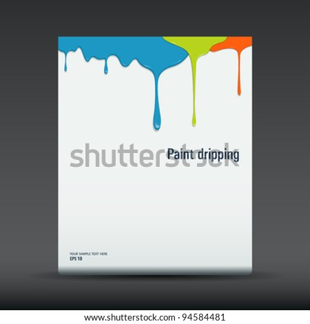 Dropping colorful of poster flyer design background, vector illustration