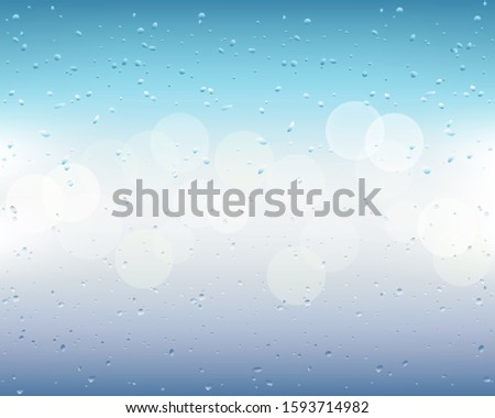 drops and trickles of water on