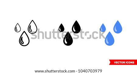 drops icon of 3 types  color