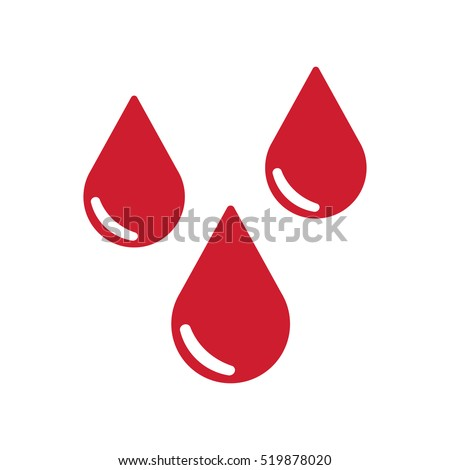 drops of blood icon vector