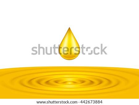 drops of liquid gold close up