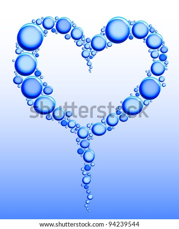 drops of water in form a heart