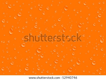 drops on orange