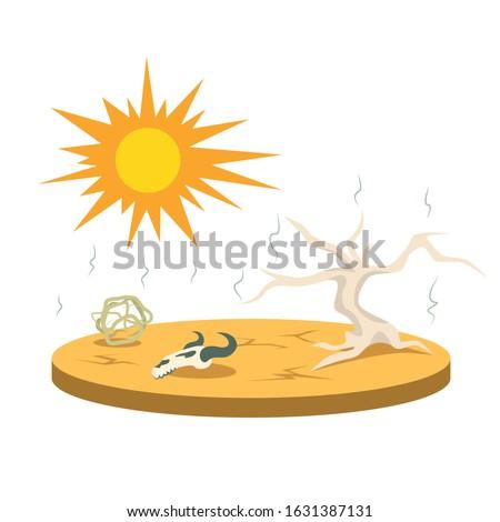 drought cartoon vector