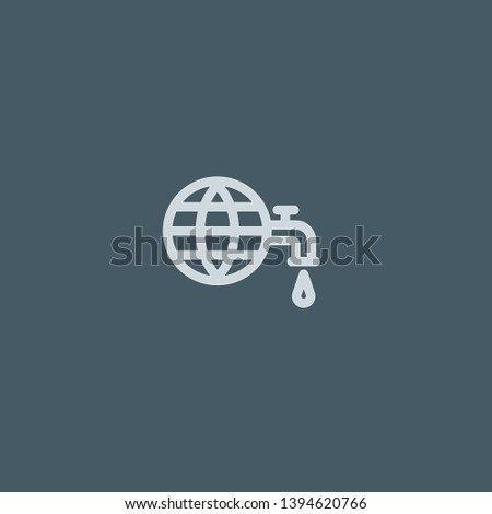 Drought vector icon. Drought concept stroke symbol design. Thin graphic elements vector illustration, outline pattern for your web site design, logo, UI. EPS 10.