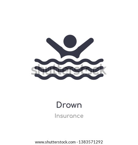 drown icon. isolated drown icon vector illustration from insurance collection. editable sing symbol can be use for web site and mobile app Stock photo ©