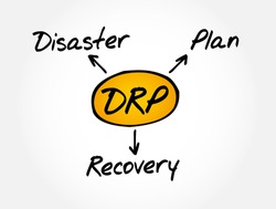 DRP - Disaster Recovery Plan acronym, business concept background