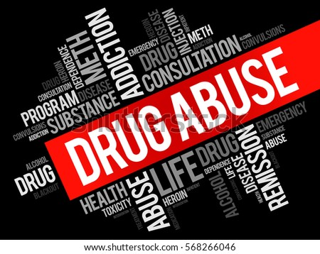 drug abuse word cloud collage