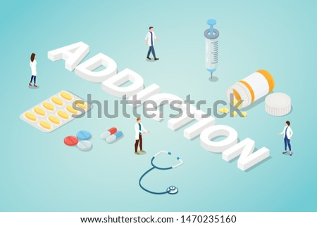 drug addiction concept with