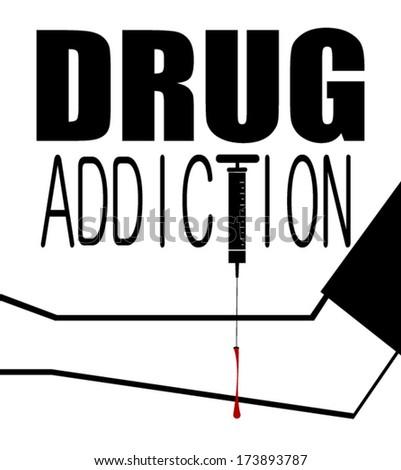 drug addiction graphic design