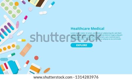 drug or medicine pills template