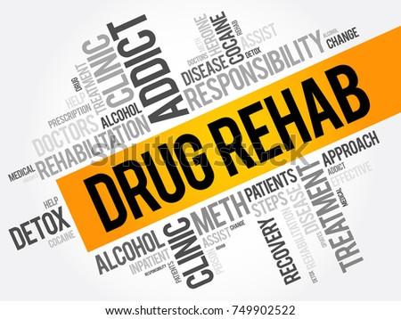 drug rehab word cloud collage