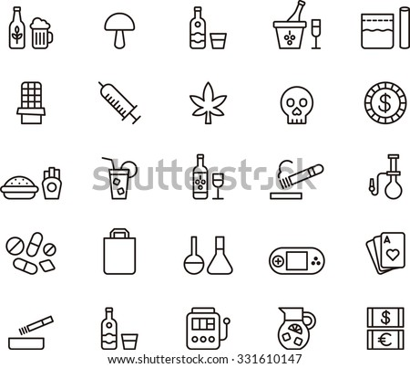 drugs   addictions outline icons