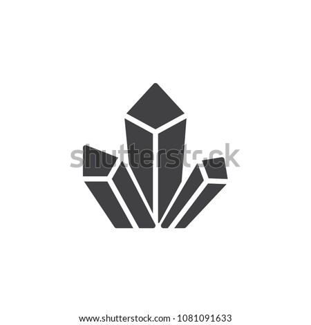 drugs crystals vector icon