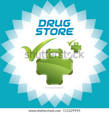 Drugstore Family Accept Icons, Sign, Button, Symbol, Logo With Green Color