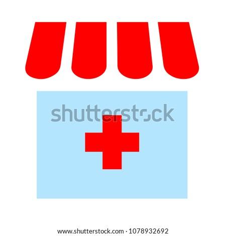 drugstore pharmacy sign - medical symbol - medicine shop isolated