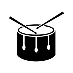 Drum icon design isolated on white background