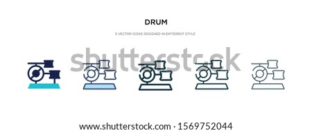 drum icon in different style