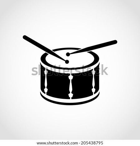 Drum Icon Isolated on White Background