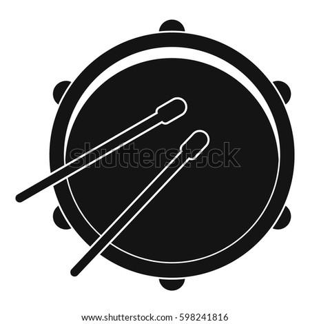 drum icon simple illustration