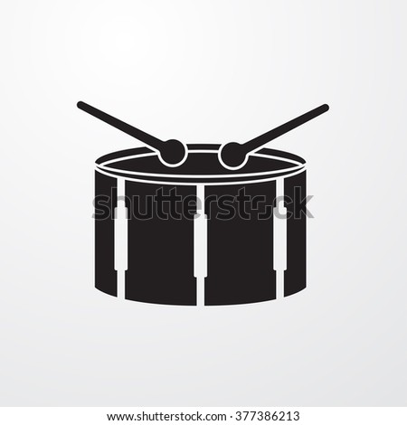 drum icon vector drum icon