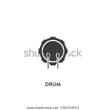 drum icon vector. drum sign on white background. drum icon for web and app