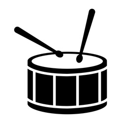 Drum icon vector sign symbol. drum sticks icon on white background. flat style. Drumsticks icon for your web site design.